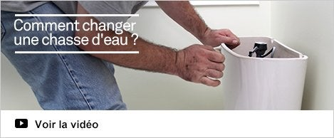 Equipement wc et accessoires de robinet chauffage plomberie leroy m - Comment changer une chasse d eau ...