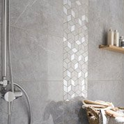 Faïence mur gris, Murano l.30.5 x L.56 cm