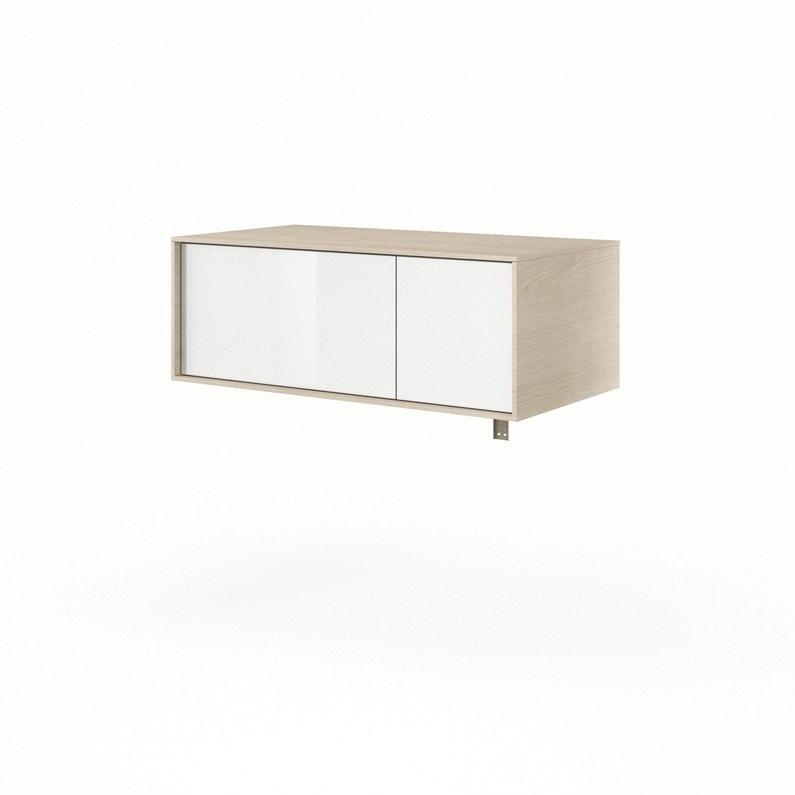 Meuble de salle de bains l.90 x H.33 x P.48 cm, blanc, Neo frame ...