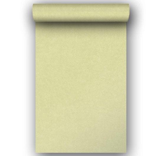 Papier peint intissé Beton mat vert kaki n°6