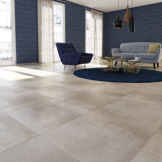 carrelage sol et mur beige effet b ton satinon x cm leroy merlin. Black Bedroom Furniture Sets. Home Design Ideas