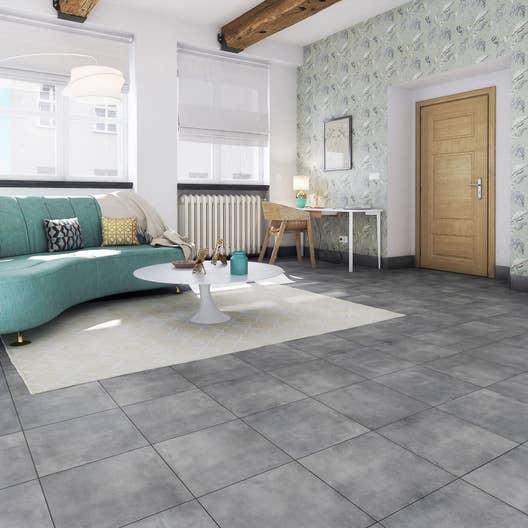 carrelage sol noir effet b ton dolce vita x. Black Bedroom Furniture Sets. Home Design Ideas