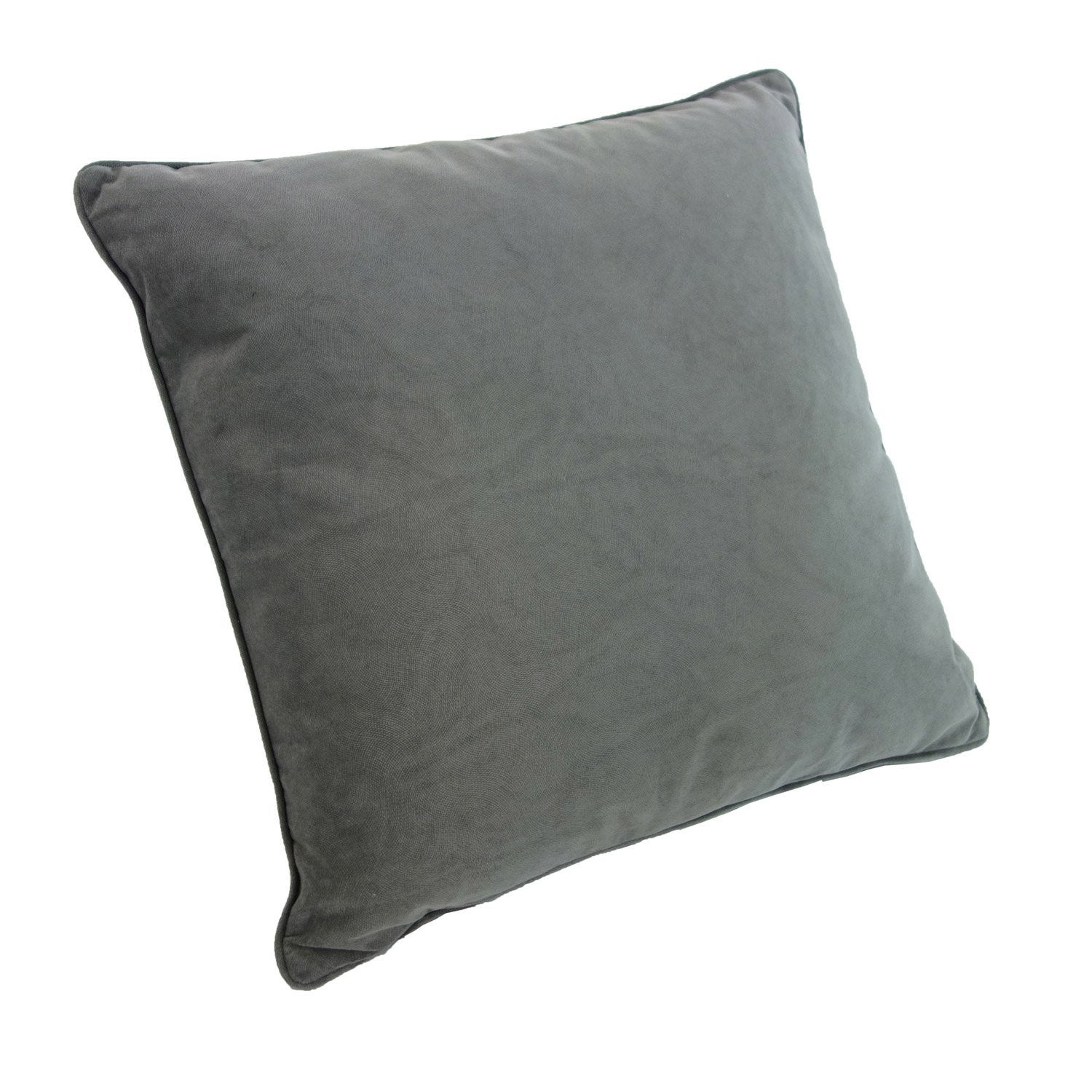 Coussin Cambridge, gris l.45 x H.45 cm