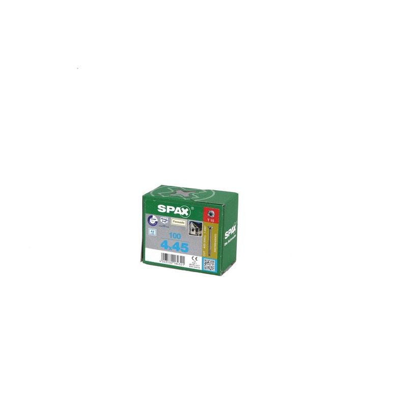 Boîte De 100 Vis 4x45mm Gris