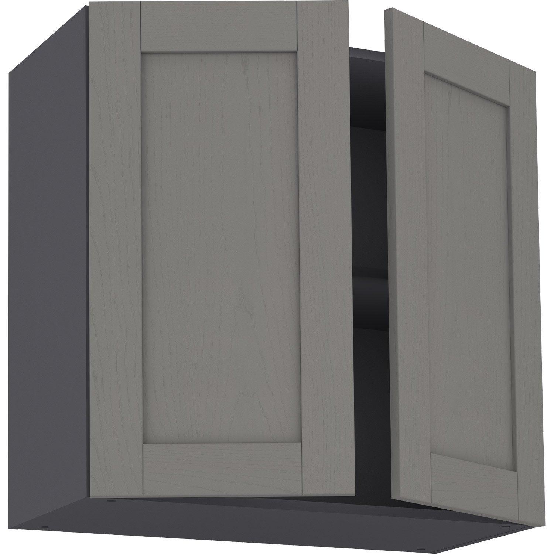 Meuble haut de cuisine Boston gris, 10 portes H10xl10