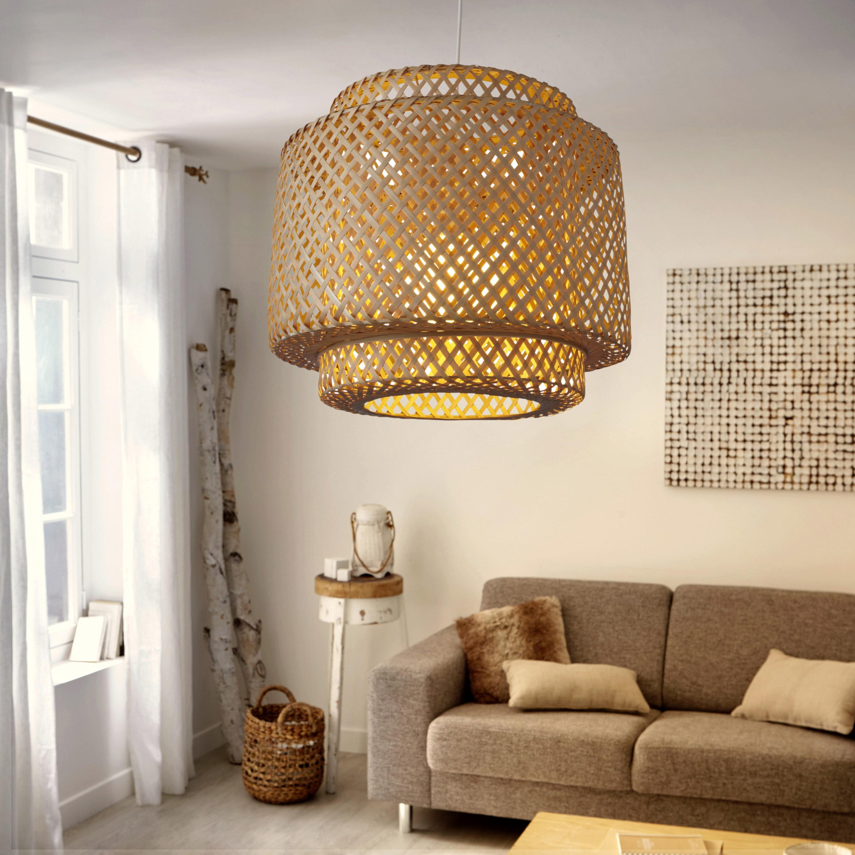 Suspension, nature bambou naturel LUSSIOL Doramu  1 lumière(s) D.40 cm