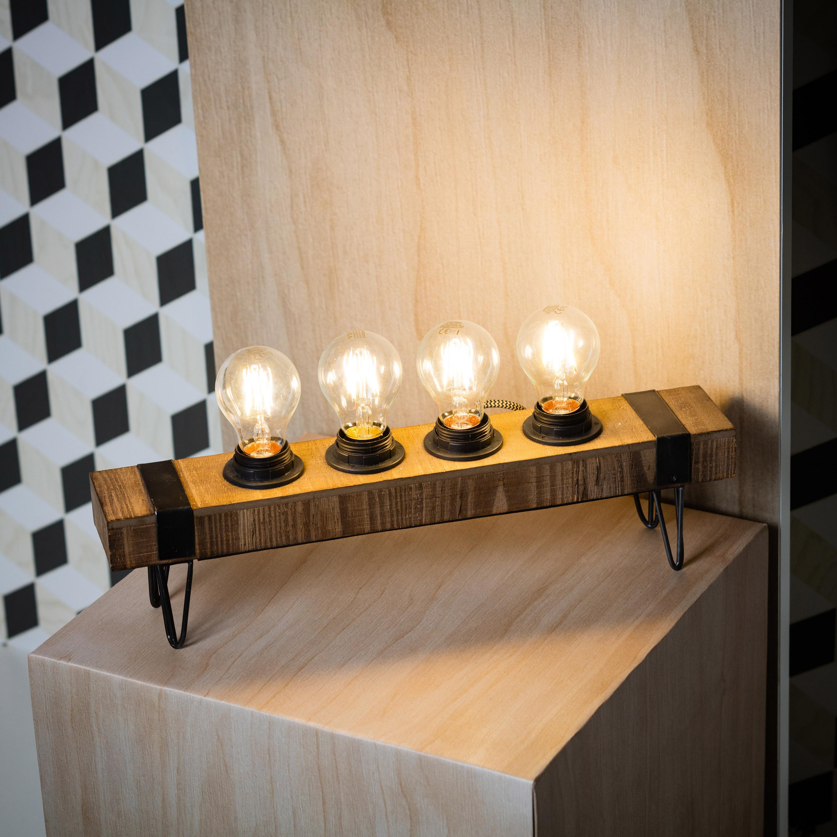 Lampe, industriel, métal noir, BRILLIANT WOODHILL