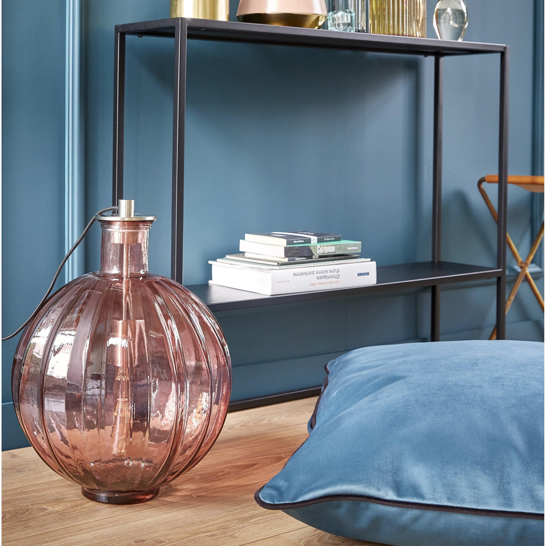 Lampe vase chic verre rose, SAMPA HELIOS Rosie D33