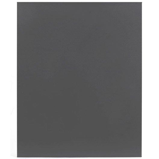 Protection murale en acier coloris gris 80 x 120 cm for Plaque protection murale cuisson