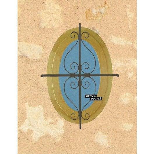 grille de défense pour oeil de boeuf, série classique, haut. 40 x