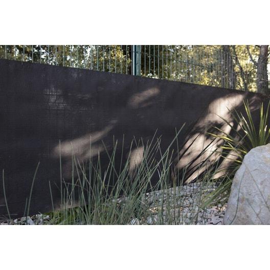 Brise-vue polyéthylène NATERIAL noir-noir n°0, H.100 cm x L.500 cm ...