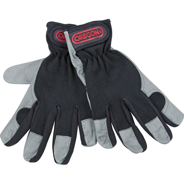 gants de jardinage en cuir oregon noir et gris taille 9 l leroy merlin. Black Bedroom Furniture Sets. Home Design Ideas