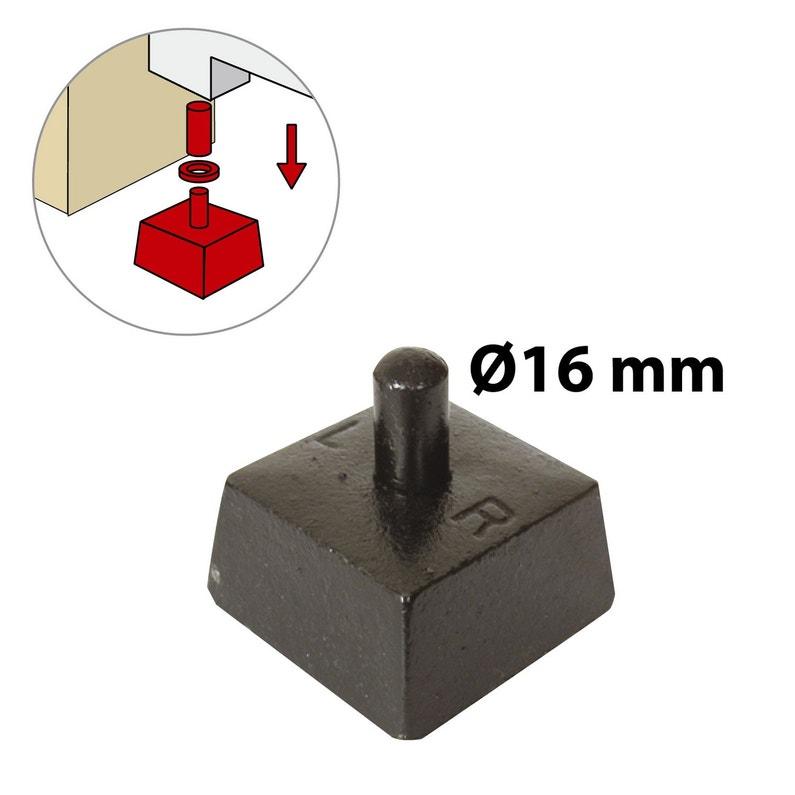 Crapaudine Fonte Prépeint H 80 X L 75 X P 75 Mm