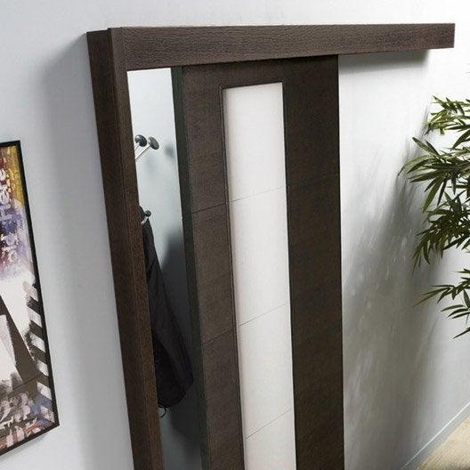 rail coulissant et habillage aluminium jazz pour porte de largeur 93 cm maxi leroy merlin. Black Bedroom Furniture Sets. Home Design Ideas
