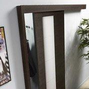porte coulissante fr ne plaqu noir atelier artens 204 x 73 cm leroy merlin. Black Bedroom Furniture Sets. Home Design Ideas