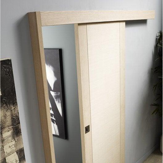 rail coulissant et habillage jazz artens pour porte de largeur 93 cm maximum leroy merlin. Black Bedroom Furniture Sets. Home Design Ideas
