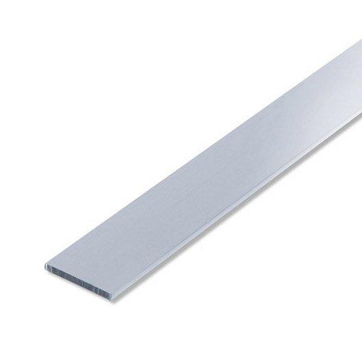 plat aluminium anodis l 2 m x l 2 5 cm leroy merlin. Black Bedroom Furniture Sets. Home Design Ideas