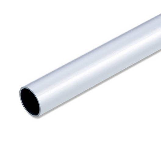 Tube rond aluminium anodisé L 1 m x Diam 16 mm