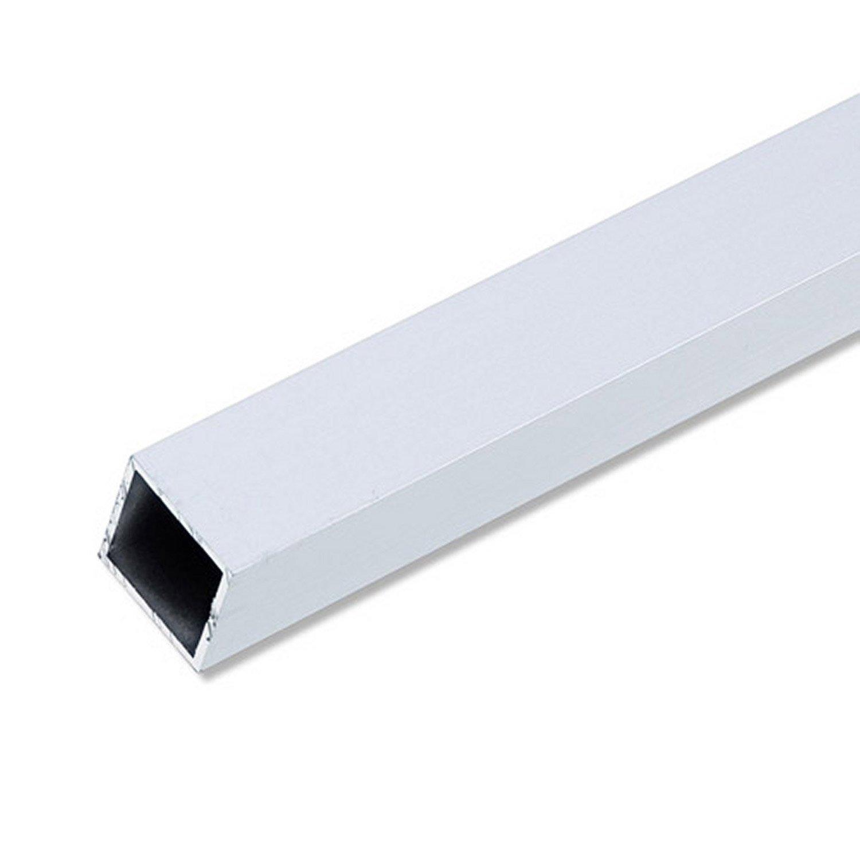 tube carr aluminium anodis l 1 m x l 2 cm x h 2 cm leroy merlin. Black Bedroom Furniture Sets. Home Design Ideas