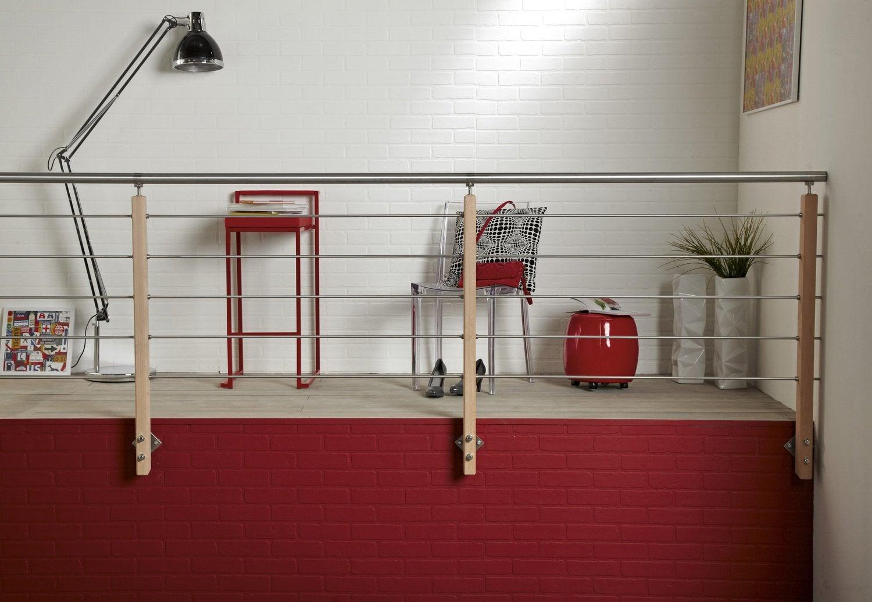 Echelle pour mezzanine leroy merlin affordable cloison for Cloison amovible atelier noir