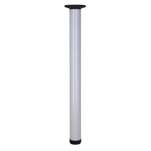 pied de plan de travail cylindrique r glable aluminium blanc 70 110 cm leroy merlin. Black Bedroom Furniture Sets. Home Design Ideas