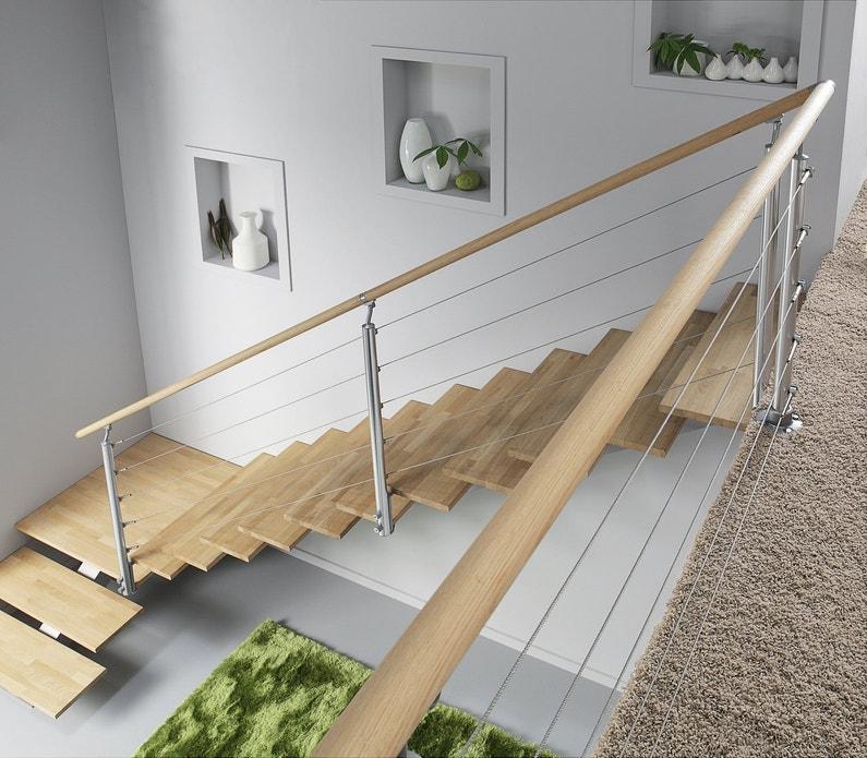 un escalier tout en bois et en alu leroy merlin. Black Bedroom Furniture Sets. Home Design Ideas