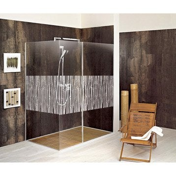 Panneaux muraux d coratifs et stickers douche leroy merlin - Vitre baignoire leroy merlin ...