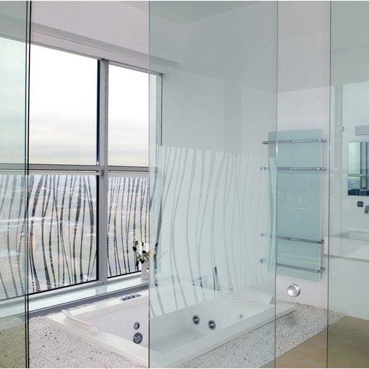 Panneaux muraux d coratifs et stickers douche leroy merlin for Sticker fenetre salle de bain