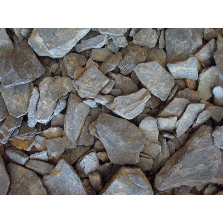 P tales d 39 ardoise pierre naturelle noir schiste 10 30mm 20 l leroy merlin - Couverte d ardoises ...