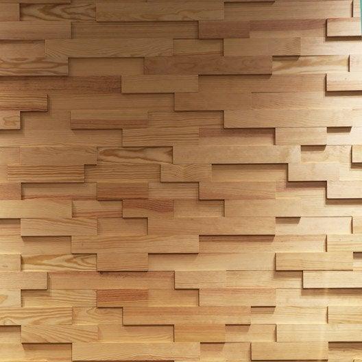 lambris adh sif pin rabot brut x l 7 cm et 18 mm leroy merlin. Black Bedroom Furniture Sets. Home Design Ideas