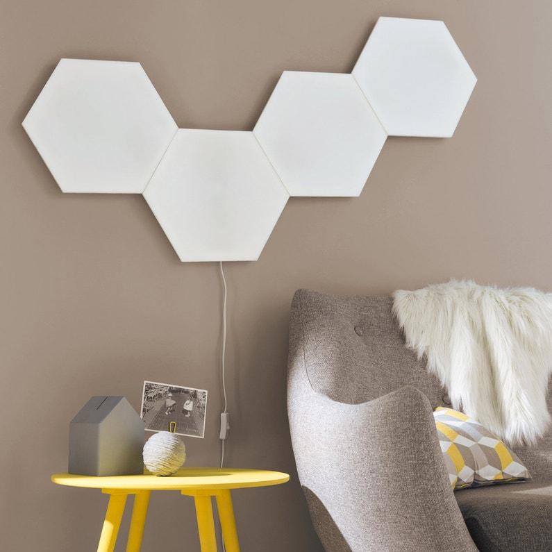 Extension Panneau Led Décoratif Led Intégrée Puzzle 1 X 9 W Blanc Inspire