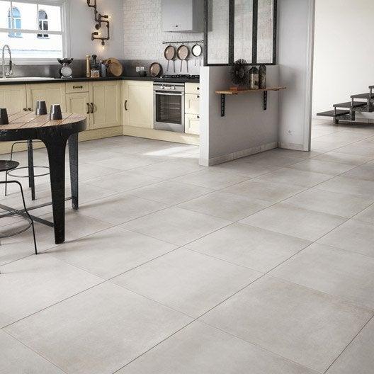 carrelage sol et mur blanc effet ciment fili re x cm leroy merlin. Black Bedroom Furniture Sets. Home Design Ideas