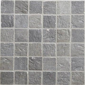 mosaque sol et mur vestige gris 5 x 5 cm - Carrelage Antiderapant Salle De Bain