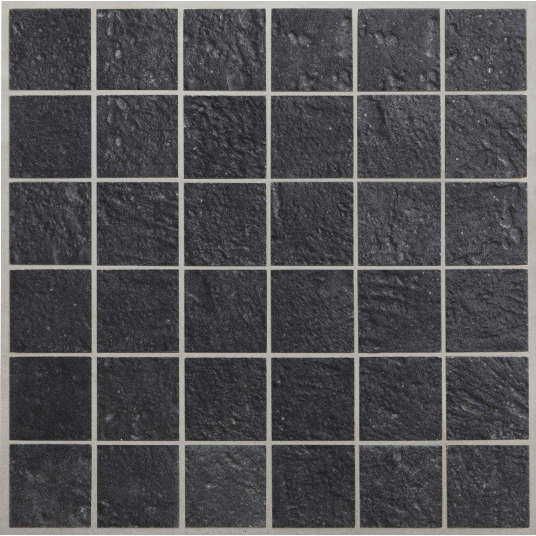 Bon Mosaïque Sol Et Mur Vestige Anthracite 5 X 5 Cm