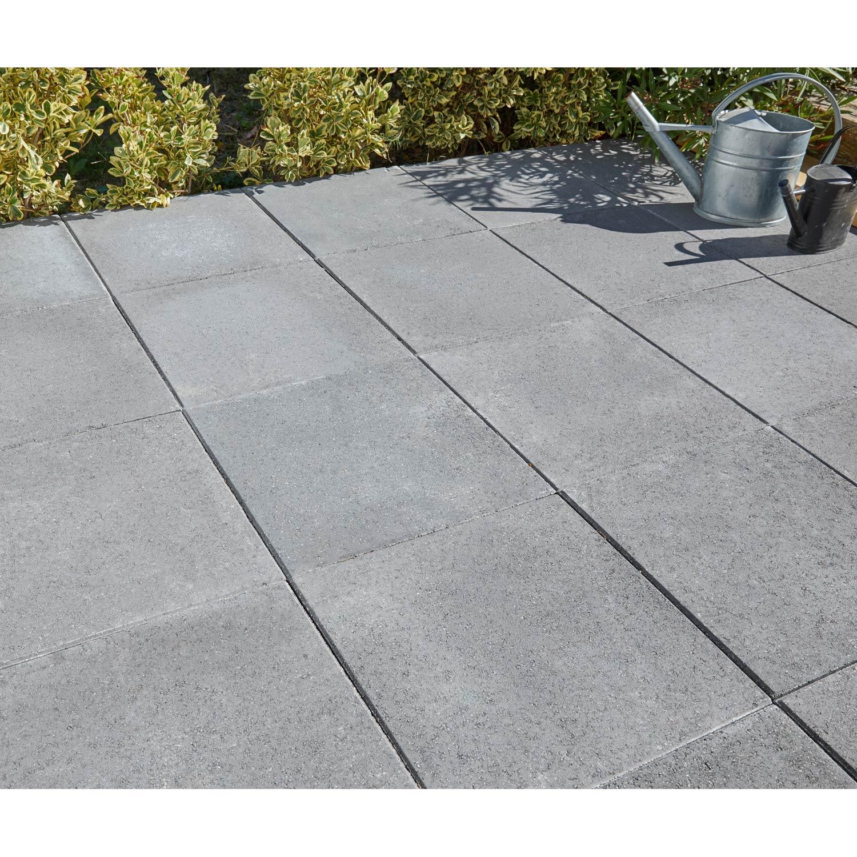 Dalle Beton Pour Allee dalle béton provençale, gris foncé, l.50 x l.50 cm x ep.50 mm