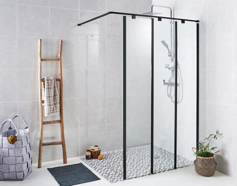 Une paroi verrière fixe pour la douche à l\'italienne   Leroy ...