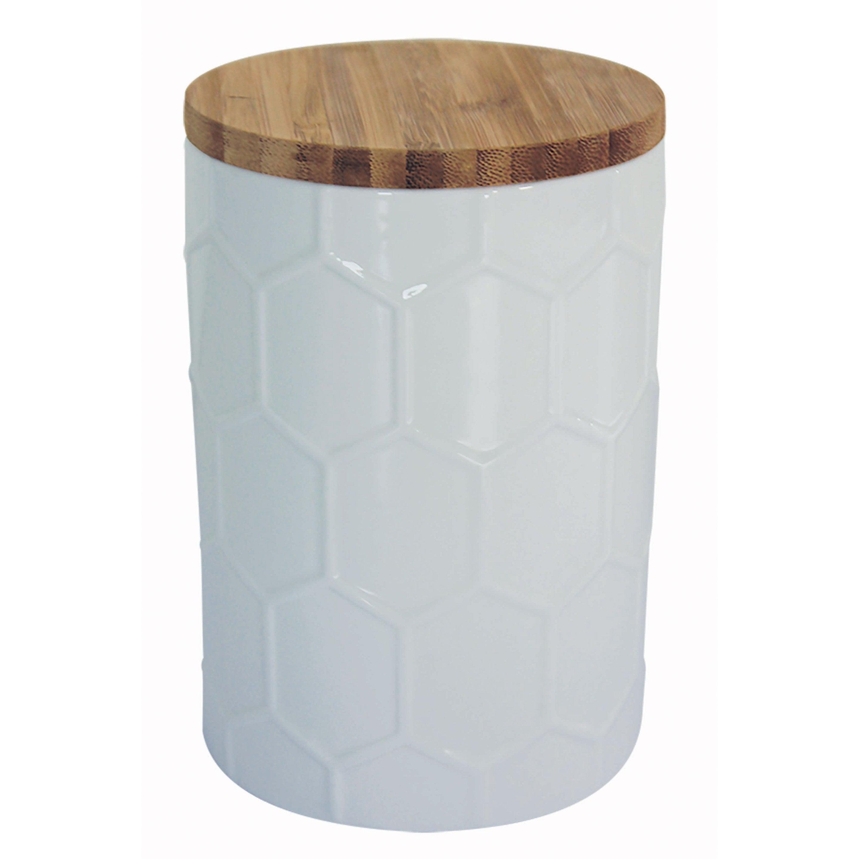 Boîte taille unique céramique blanc H.14.5 x l.10 x P.10 cm