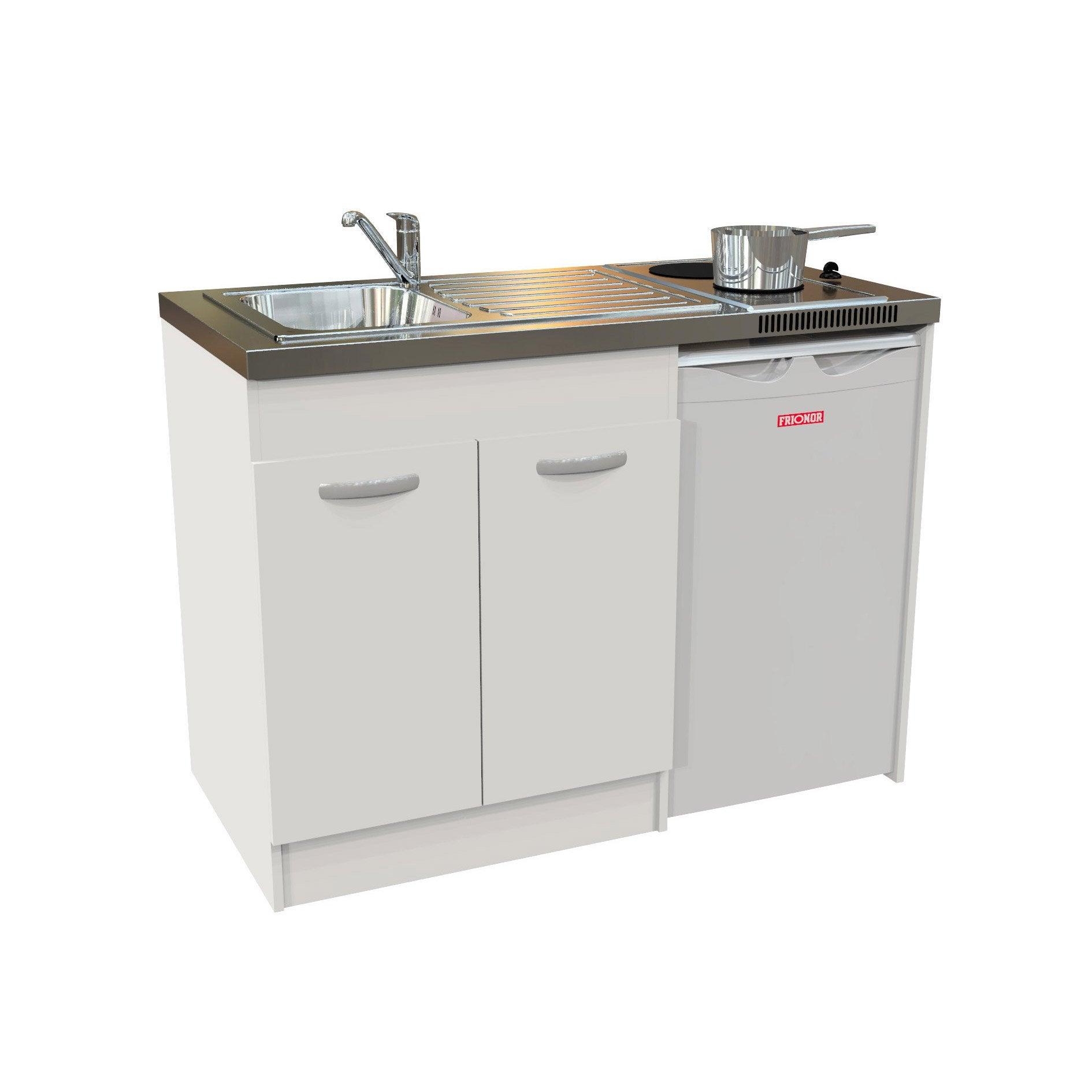 Kitchenette Electrique Blanc Spring H.92.5 X L.120 X P.60 Cm ...