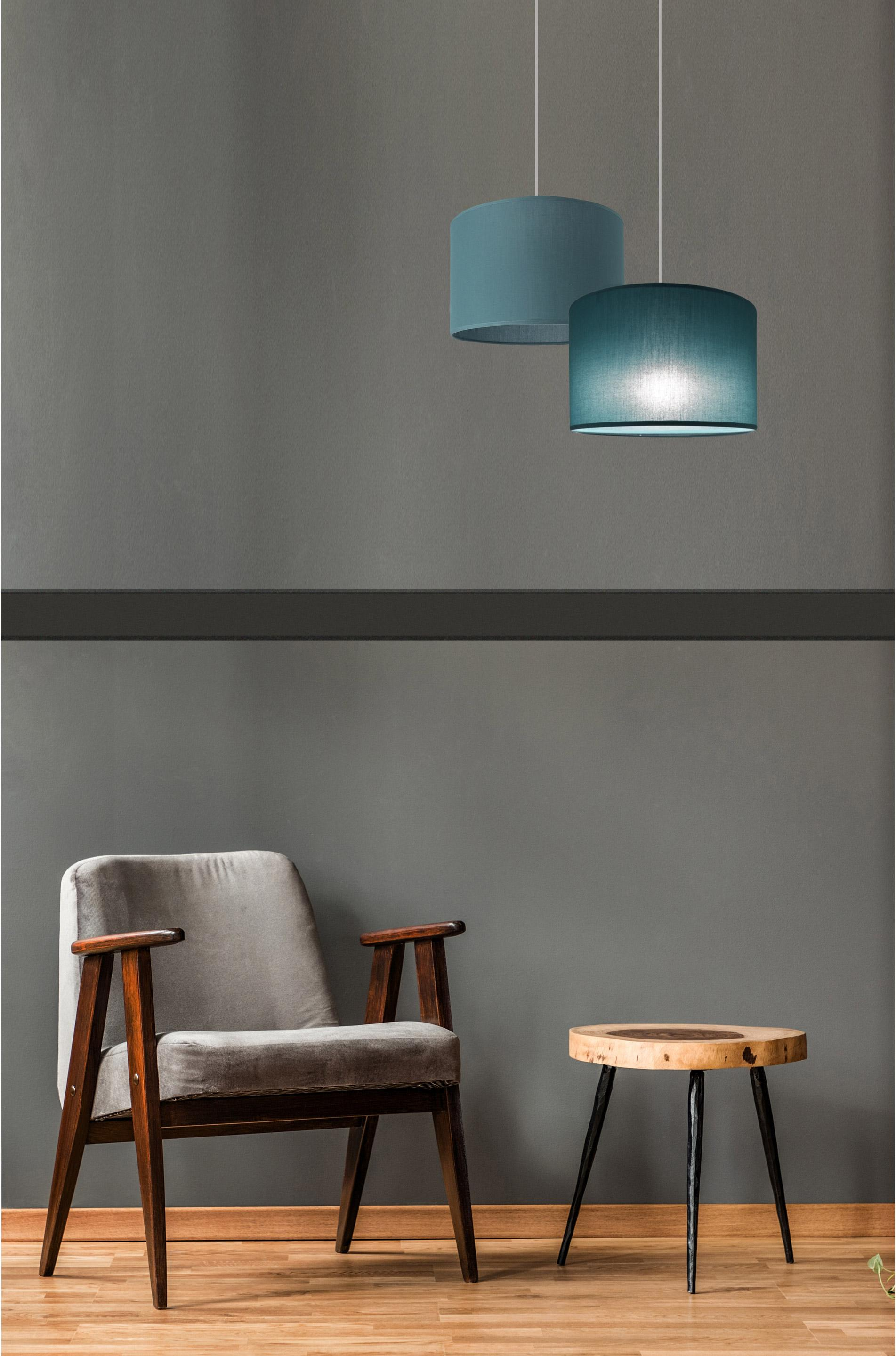 Suspension, tropical, coton bleu canard METROPOLIGHT Natt 1 lumière(s) D.29 cm