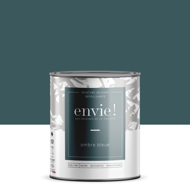 Peinture dépolluante mur, boiserie, radiateur ENVIE ombre bleue velours 0.5 l