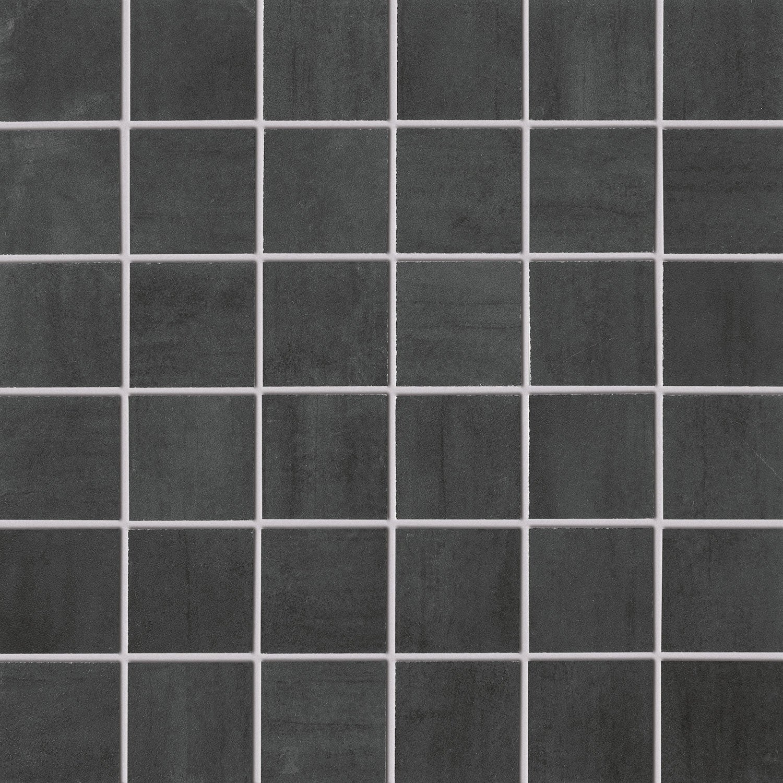 Mosaïque sol et mur Eiffel gris foncé 5 x 5 cm | Leroy Merlin
