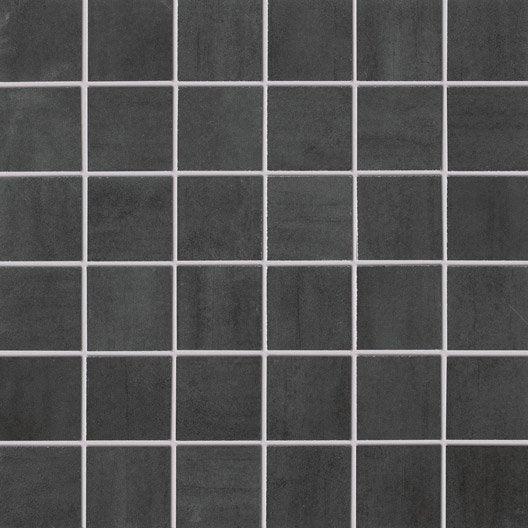 mosaque sol et mur eiffel gris fonc 5 x 5 cm - Mosaique Sol Salle De Bain