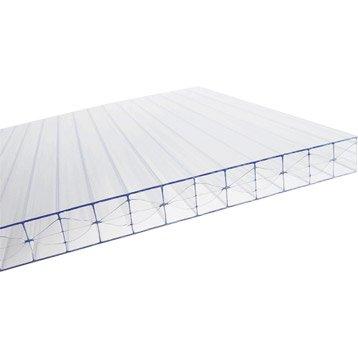 Plaque plat polycarbonate claire SUNCLEAR l.0.98 x L.3 m