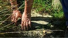 Drain au sol pour l'eau de pluie