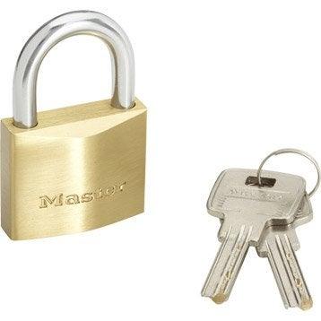 Cadenas à clé MASTERLOCK laiton, l.40 mm