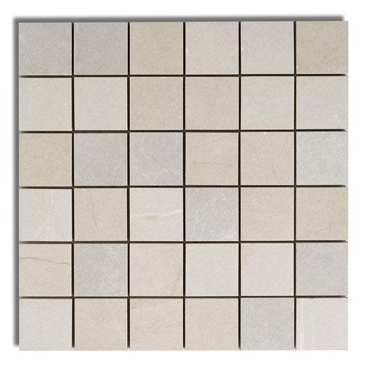 Mosaïque sol et mur Colysée beige, blanc et gris | Leroy Merlin