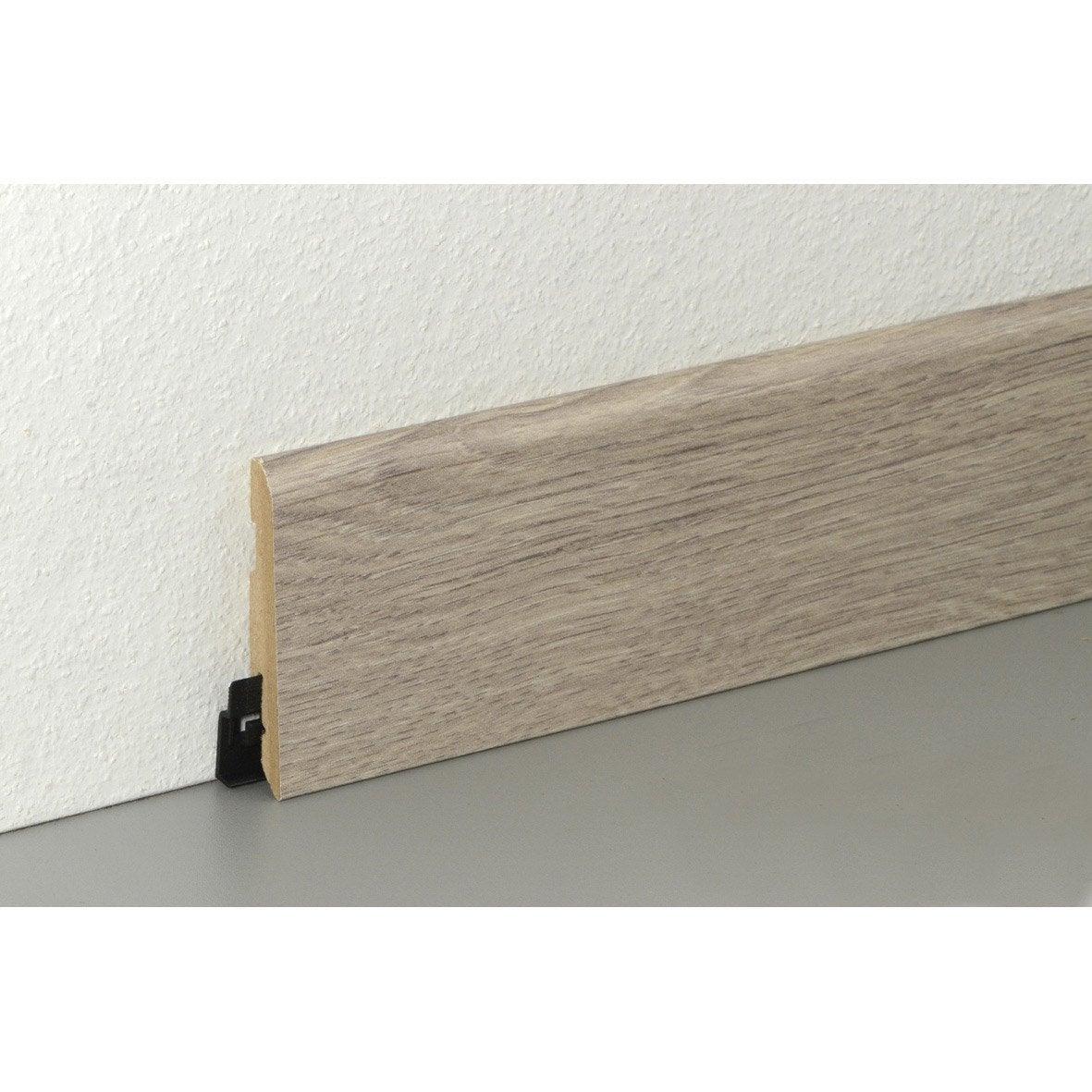 plinthe sol stratifi d cor n 50 cm x x mm leroy merlin. Black Bedroom Furniture Sets. Home Design Ideas