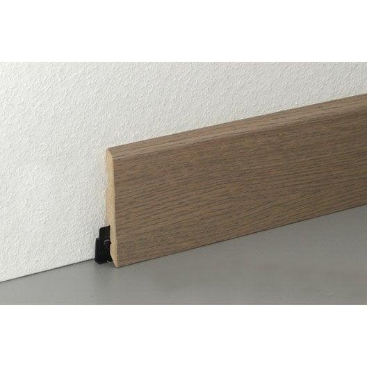 plinthe parquet plaqu e ch ne gris dor cm x x mm leroy merlin. Black Bedroom Furniture Sets. Home Design Ideas