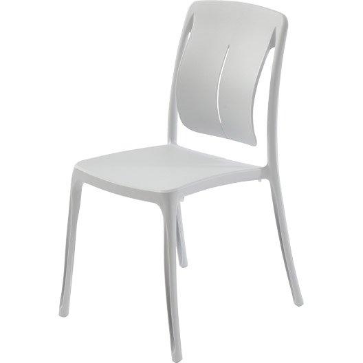 Chaise de jardin en r sine playmood couleur blanc - Chaise jardin pvc ...