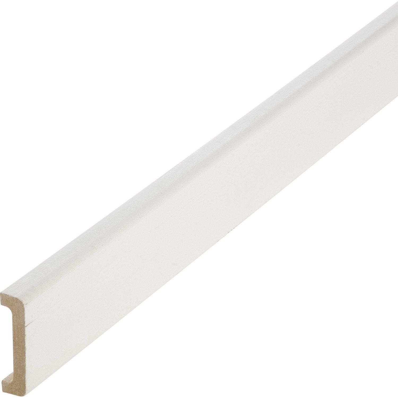 Nez De Cloison Médium Mdf Pour Cloison De 50 Mm Blanc 11 X 53 Mm L 25 M